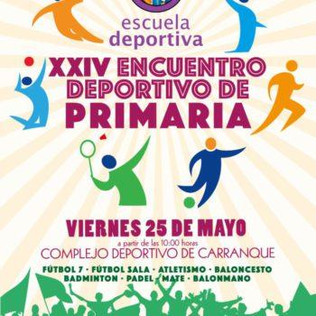 El 25 de mayo se celebrará el XXIV Encuentro Deportivo de Primaria