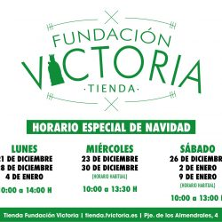 Horario de la Tienda Fundación Victoria durante la Navidad