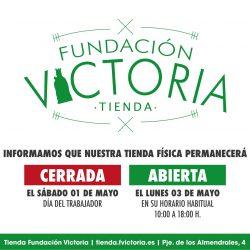 La Tienda Fundación cerrará el sábado 1 de mayo