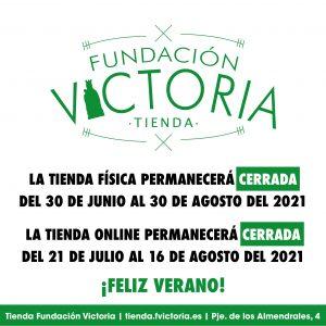 Horario de verano de la Tienda Fundación Victoria
